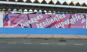 Graffiti Comercial en Las Palmas de Gran Canaria - Mural por el día de Mujer Trabajadora 8 de marzo
