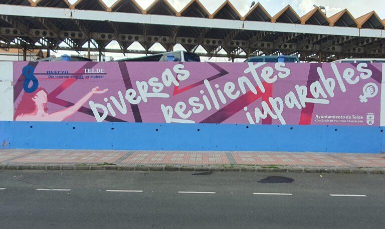 Mural por el día de Mujer Trabajadora 8 de marzo