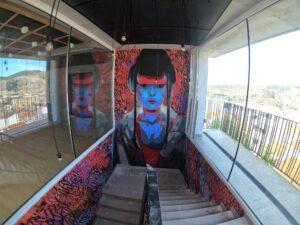 Graffiti profesional - Restaurante Mokuren