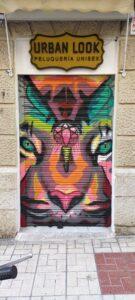 Graffiti comercial en Málaga - Peluqueria Urban Look