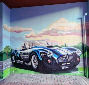 Graffiti comercial en A Coruña (La Coruña) - Garaje particular con graffiti en Santiago de Compostela