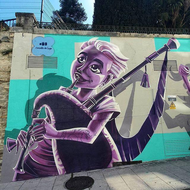 Graffiti gaitera en Lugo