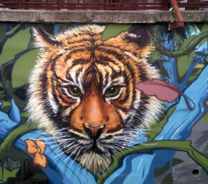 Graffiteros en Madrid - Mural naturaleza