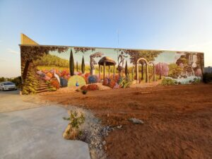 Grafiteros a domicilio - Mural en Quintanar del rey