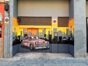 Grafiteros de Valencia - Graffiti: Acceso garaje calle Mistral, Benimaclet.