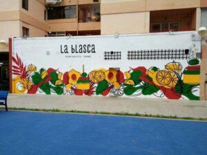 Graffiti profesional - Graffiti mural, Restaurante La Blasca, Valencia.