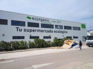 Graffiti profesional - Rotulación para Supermercado écológico Ecorganic, Denia.