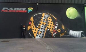 Graffiti profesional - Mural para Pádel indoor Alzira.