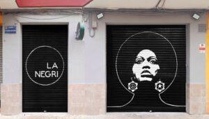Grafiteros de Valencia - Mural en Restaurante La Negri, Benimaclet.