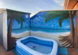 Graffiti profesional - Playa particular