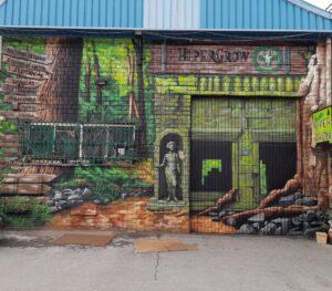 Graffiti profesional - Mural nave comercial