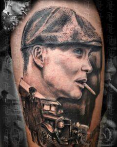 Hombres tatuados - Tatuaje de la serie The Peaky Blinders